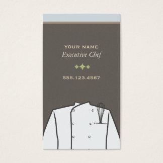 Tarjeta de visita del chef ejecutivo