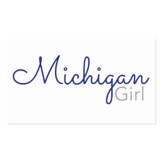 Tarjeta de visita del chica de Michigan