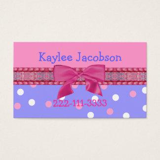 Tarjeta de visita del chica/tarjeta del recinto