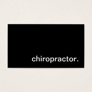 Tarjeta de visita del Chiropractor