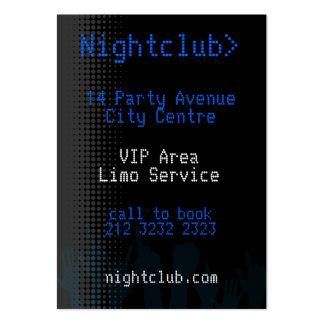 Tarjeta de visita del club nocturno