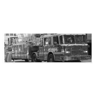 Tarjeta de visita del coche de bomberos