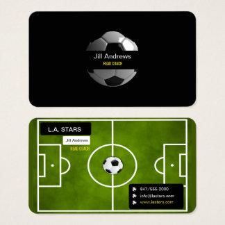 tarjeta de visita del coche del fútbol