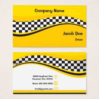 Tarjeta de visita del conductor de taxi
