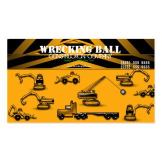 Tarjeta de visita del constructor de la construcci