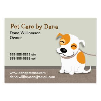 Tarjeta de visita del cuidado de animales de compa