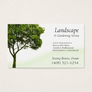 Tarjeta de visita del cuidado del árbol o del