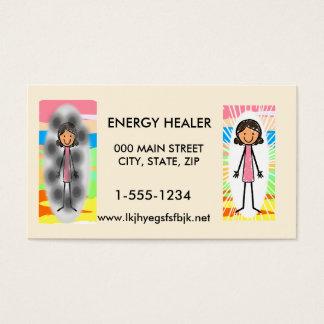 Tarjeta de visita del curador de la energía 100