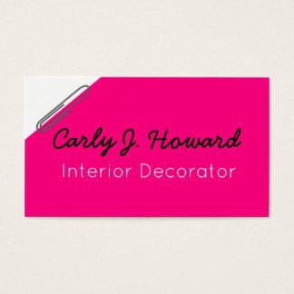 Tarjeta de visita del decorador de interiores