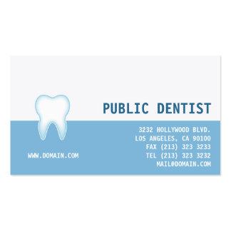 Tarjeta de visita del dentista del cuidado dental