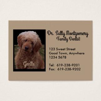 Tarjeta de visita del dentista - el perro más
