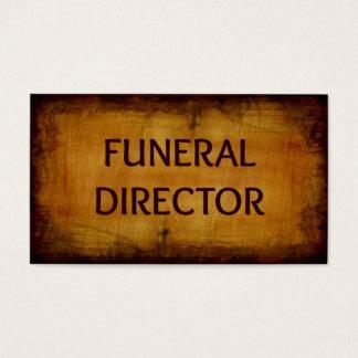 Tarjeta de visita del director de funeraria
