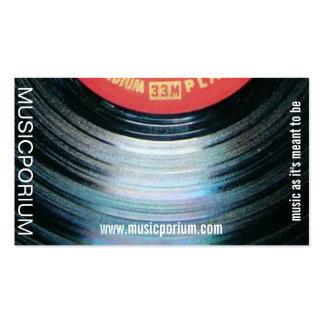 tarjeta de visita del disco de vinilo