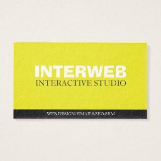 Tarjeta de visita del diseñador del Web