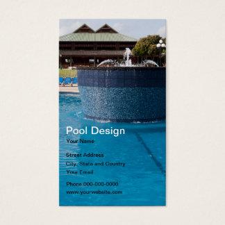 Tarjeta de visita del diseño de la piscina