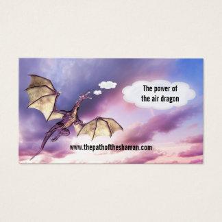 Tarjeta de visita del dragón del aire del Shaman
