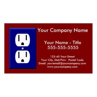 Tarjeta de visita del electricista 5