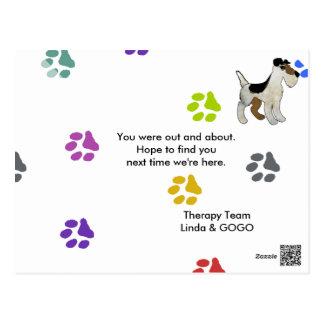 Tarjeta de visita del equipo de la terapia tarjetas postales