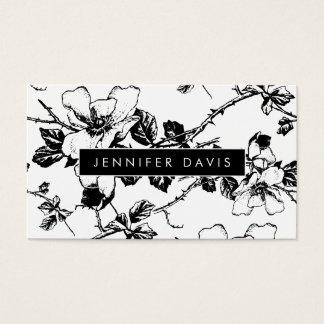 Tarjeta de visita del estampado de flores