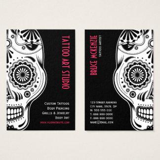 Tarjeta de visita del estudio del arte del tatuaje