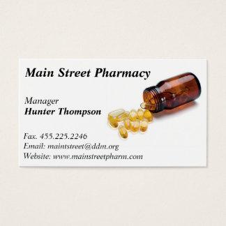 Tarjeta de visita del farmacéutico de la farmacia