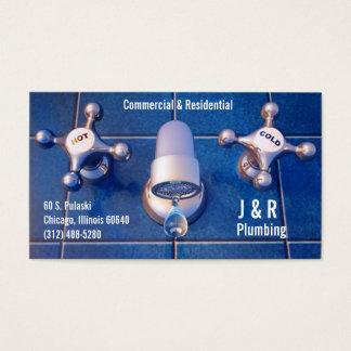 tarjeta de visita del fontanero del grifo del
