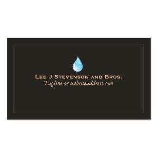 Tarjeta de visita del fontanero del logotipo del