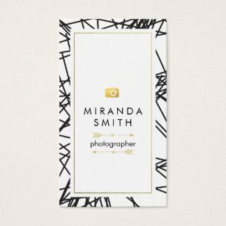 Tarjeta de visita del fotógrafo - moda geométrica
