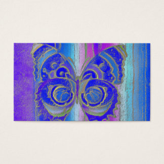Tarjeta de visita del fractal de la mariposa