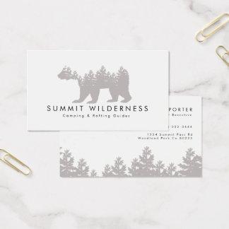 tarjeta de visita del grisáceo del Pino-árbol