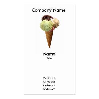 Tarjeta de visita del helado