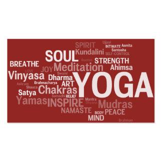 Tarjeta de visita del instructor de la YOGA -