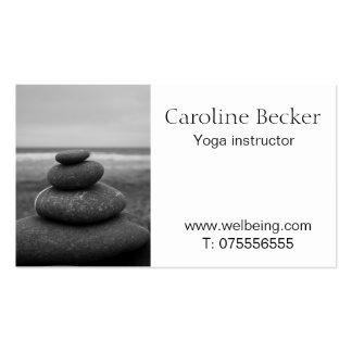 Tarjeta de visita del instructor de la yoga y de P