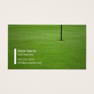 Tarjeta de visita del instructor del golf