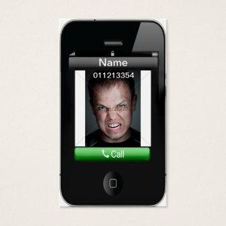 tarjeta de visita del iPhone 2x3.5