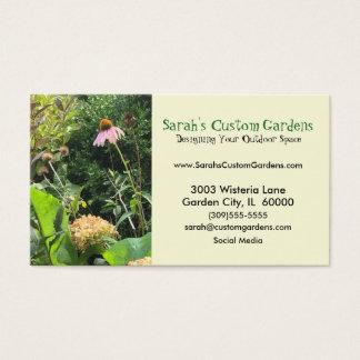 Tarjeta de visita del jardín de la foto