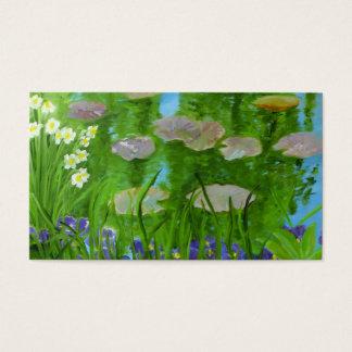 Tarjeta de visita del jardín de Monet