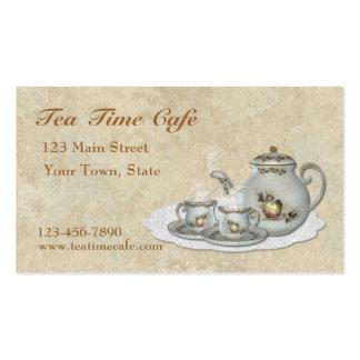 Tarjeta de visita del juego de té