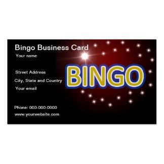 Tarjeta de visita del juego del bingo