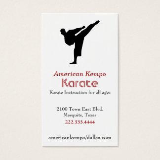 Tarjeta de visita del karate