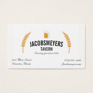 Tarjeta de visita del logotipo de la cerveza de la