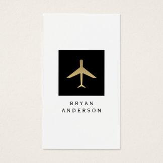 Tarjeta de visita del logotipo del aeroplano del