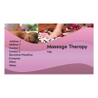 Tarjeta de visita del masaje/de la relajación