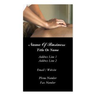Tarjeta de visita del masaje