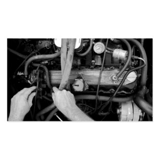 Tarjeta de visita del mecánico