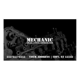 Tarjeta de visita del mecánico con la foto del