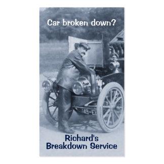 Tarjeta de visita del mecánico de coche del