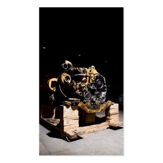 Tarjeta de visita del mecánico del motor diesel