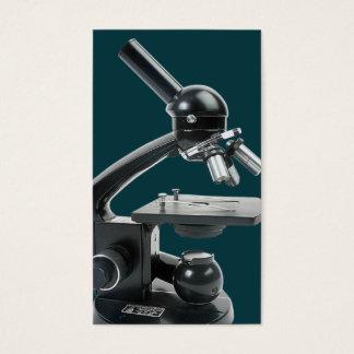 Tarjeta de visita del microscopio