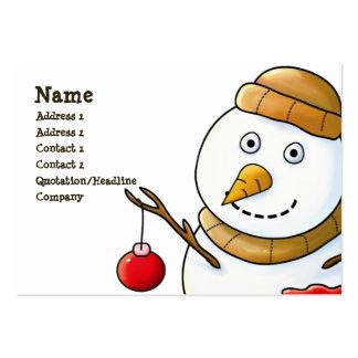 Tarjeta de visita del muñeco de nieve del navidad